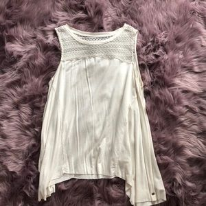 Lace High Neck Tank